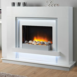 Apex Fires Seapearl Electric Fireplace Suite