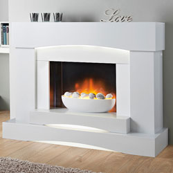 Lumia Starlake Electric Fireplace Suite