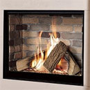 Michael Miller Collection Celena Trimless Gas Fire Brick Interior