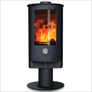 Oak Stoves Zeta 10 Pedestal Multifuel Wood Burning Stove