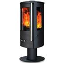 Oak Stoves Zeta 5 Pedestal Multifuel Wood Burning Stove