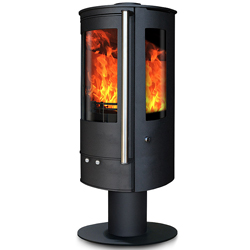 Oak Stoves Zeta 5 Pedestal Multifuel Wood Burning Stove