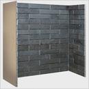 Fire Depot Chamber Porcelain Slate Brick Bond