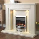 Pureglow Hanley 48 Marble Electric Fireplace Suite