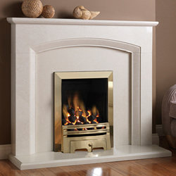 Pureglow Ashton Slimline Gas Fireplace Suite