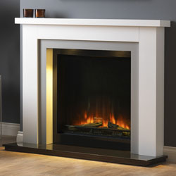 Pureglow Hanley White and Grey with Chelsea 750 Electric Fireplace Suite