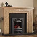 Pureglow Hanley 48 Full Depth Gas Oak Fireplace Suite