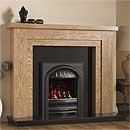 Pureglow Hanley 48 Full Depth Gas Oak Fireplace Suite