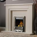 Pureglow Hanley 48 Slimline Gas Limestone Fireplace Suite