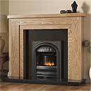 Pureglow Hanley 54 Full Depth Gas Oak Fireplace Suite