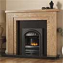 Pureglow Hanley 54 Slimline Gas Oak Fireplace Suite