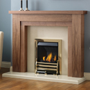 Pureglow Hanley 48 Slimline Gas Walnut Fireplace Suite