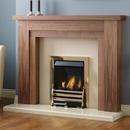 Pureglow Hanley 54 Slimline Gas Walnut Fireplace Suite