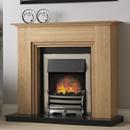 Pureglow Middleton Oak Electric Fireplace Suite