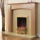 Pureglow Stretton Full Depth Gas Oak Fireplace Suite