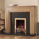 Pureglow Whitton 48 Slimline Gas Oak Fireplace Suite