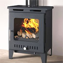 Rofer and Rodi Alora Anthracite Multifuel Wood Burning Stove