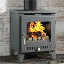 Rofer and Rodi Merida Anthracite Multifuel Wood Burning Stove