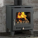 Rofer and Rodi Merida Black Multifuel Wood Burning Stove