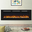 Signature Fireplaces Daytona 1530 Black Glass Electric Fire