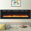 Signature Fireplaces Daytona 1730 Black Glass Electric Fire