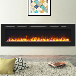 Apex Fires Daytona 1730 Black Glass Electric Fire