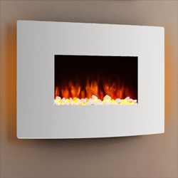 Apex Fires Havana II White Wall Mounted Electric Fire