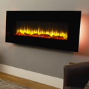 Signature Fireplaces Georgia Black Wall Mounted Electric Fire