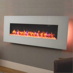 Signature Fireplaces Georgia White Wall Mounted Electric Fire