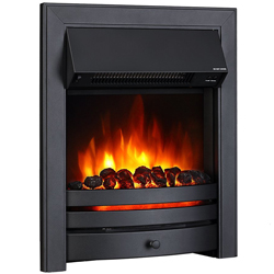 Signature Fireplaces Houston Black Electric Fire