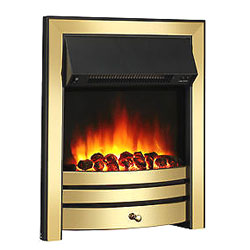 Signature Fireplaces Houston Brass Electric Fire