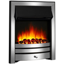 Signature Fireplaces Houston Chrome Electric Fire