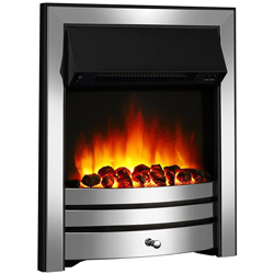 Apex Fires Houston Chrome Electric Fire