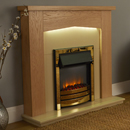 Signature Fireplaces Traverse Brass Electric Suite