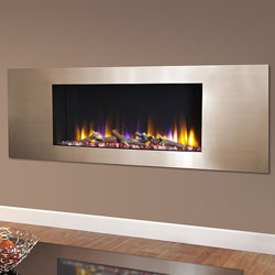 Celsi Ultiflame VR Metz Champagne Hole in Wall Electric Fire