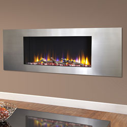 Celsi Ultiflame VR Metz Silver Hole in Wall Electric Fire