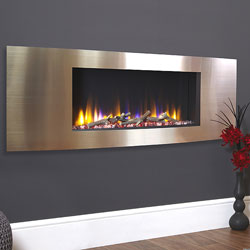 Celsi Ultiflame VR Vichy Champagne Hole in Wall Electric Fire