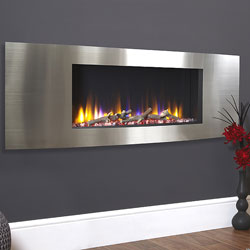 Celsi Ultiflame VR Vichy Silver Hole in Wall Electric Fire