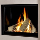 Michael Miller Collection Celena Trimless Gas Fire Black Interior