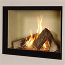 Michael Miller Collection Celena Trimless Gas Fire Cream Interior