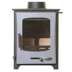 Woolly Mammoth 5 GREY DOOR Multifuel Stove DEFRA