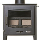 Woolly Mammoth 5 Widescreen BLACK DOOR Multifuel Stove DEFRA
