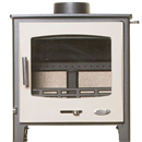 Woolly Mammoth 5 Widescreen CREAM DOOR Multifuel Stove DEFRA