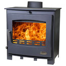 Woolly Mammoth 5 Widescreen BLACK Multifuel Stove ECO DESIGN 2022