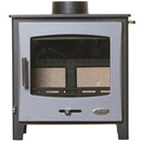 Woolly Mammoth 5 Widescreen GREY DOOR Multifuel Stove DEFRA