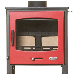 Woolly Mammoth 5 Widescreen RED DOOR Multifuel Stove DEFRA