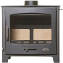 Woolly Mammoth 7 BLACK DOOR Multifuel Stove DEFRA