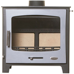 Woolly Mammoth 7 GREY DOOR Multifuel Stove DEFRA