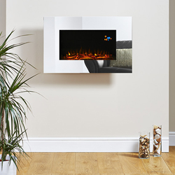 Eko Fires 1110 Mirror Glass Hang on the Wall Electric Fire