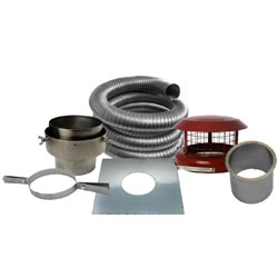 Fire Depot 10 Metre x 8 inch diameter Multifuel Flexible Flue Liner Kit (316)
